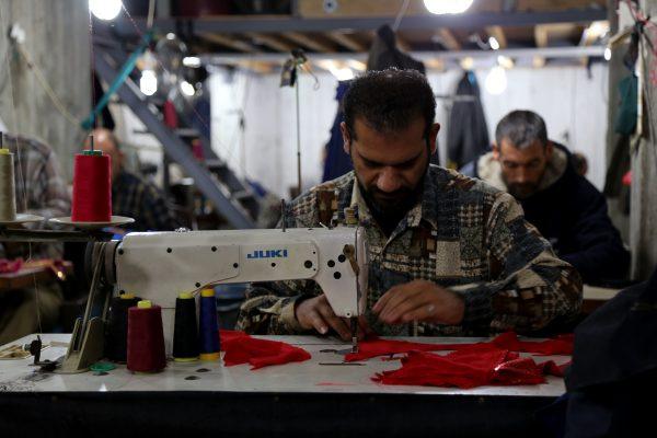 A sewing workshop in Gaza (2015). Photo by Gisha