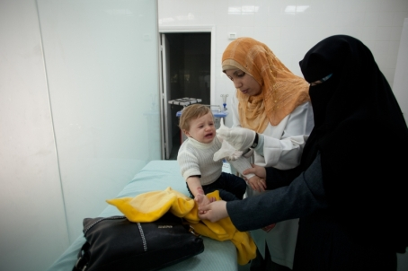 many patients, especially children, would have difficulties accessing treatment with no accompanying persons who meet the threshold requirement. Photo: Eman Mohammed