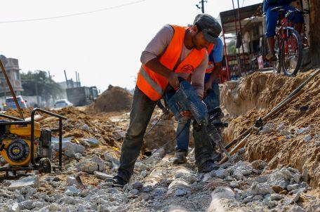 Infrastructure work in Gaza. Photo by Gisha.
