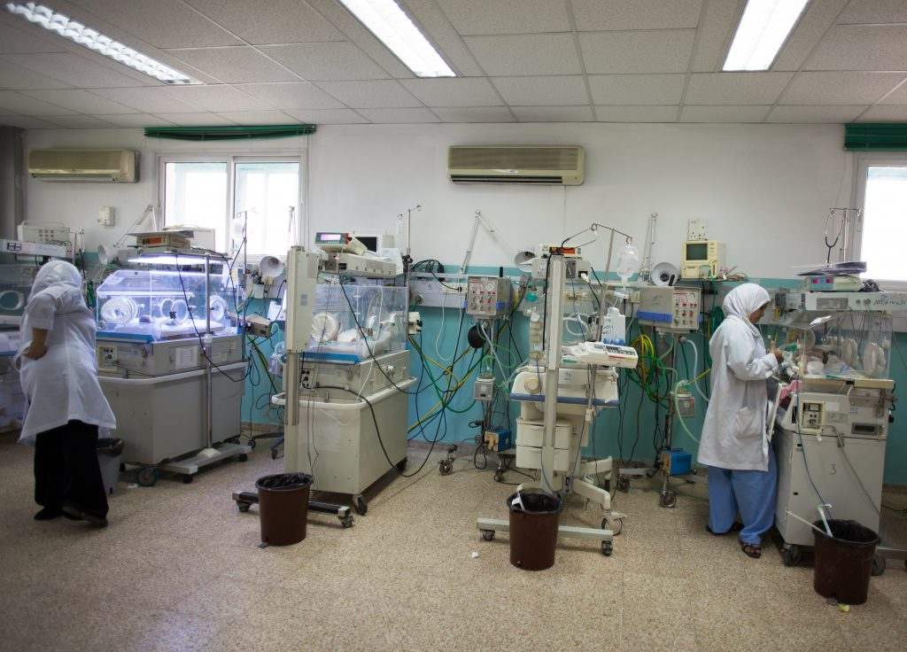 A neonatal ICU in Gaza. Photo by Eman Mohammed