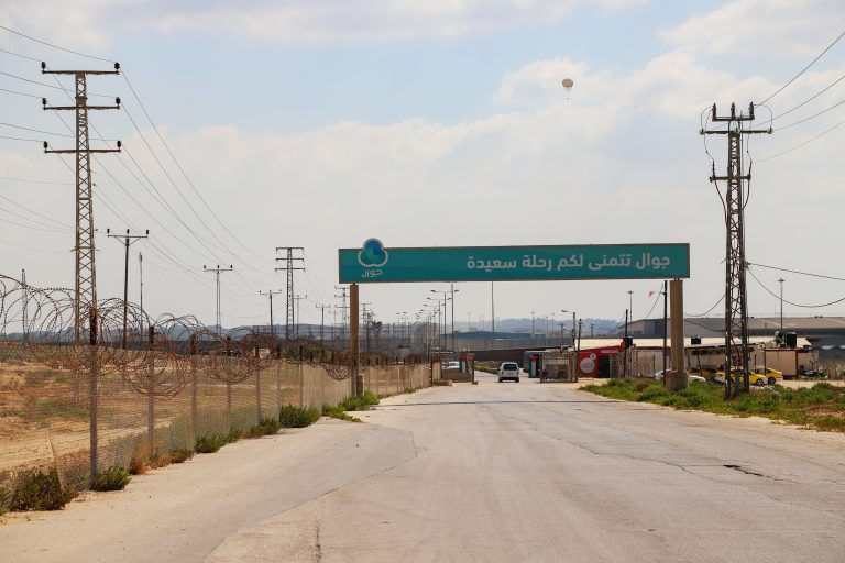 A view of Erez Crossing from within Gaza. Photo by Asmaa Elkhaldi