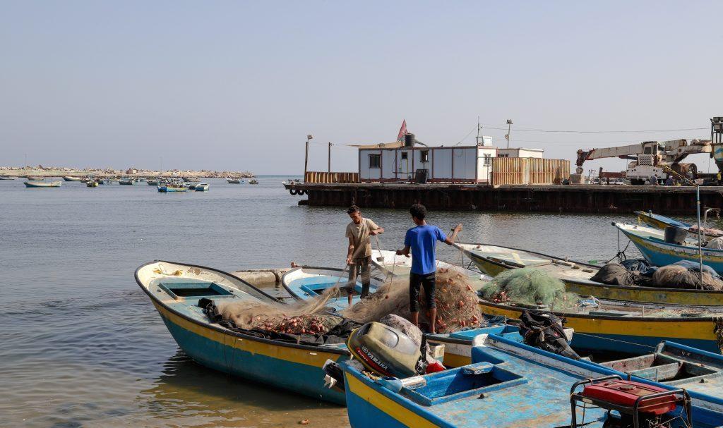 The fishing port in Gaza. Photo by Asmaa Elkhaldi