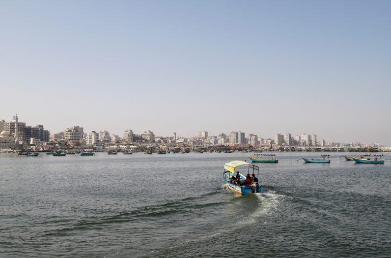 Fishing boats off the coast of Gaza. Photo by Asmaa Elkahldi