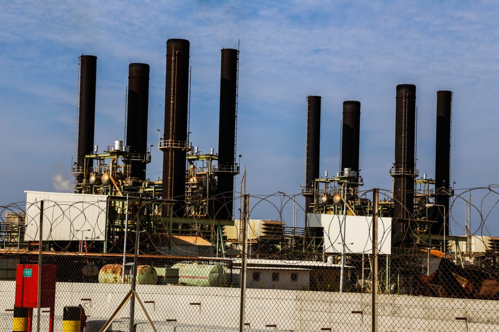 The power plant in Gaza. Photo by Gisha