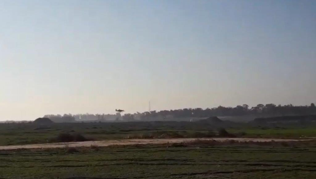 Aerial spraying in January 2020. Footage by farmers in Gaza