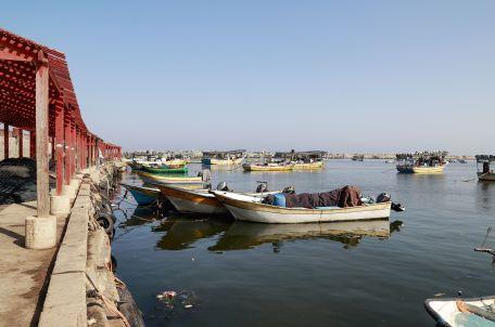 Boats in Gaza's fishing port, 2019. Photo: Asmaa Elkhaldi