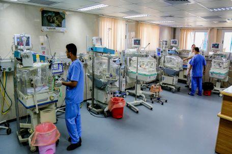 פגיה בבית חולים בעזה. צילום: גישה