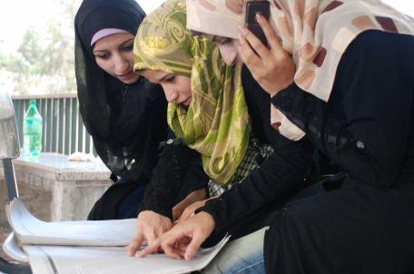 סטודנטיות בעזה. צילום: אימאן מוחמד