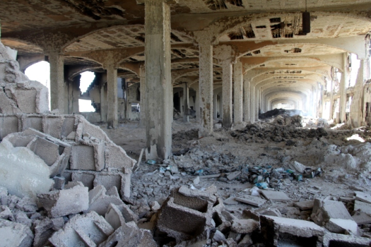 The ruins of Tilbani's sweets factory