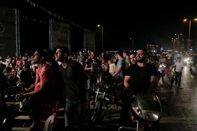 צופים בעזה במשחקי הגביע העולמי בכדורגל, קיץ 2018. צילום: גישה