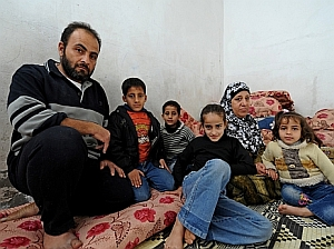 A common refrain we hear is that people want to work, not receive charity. Abu Shawareb family