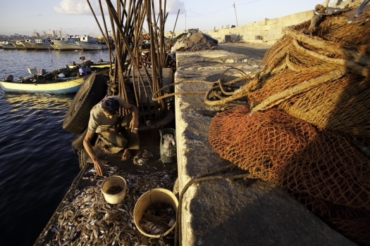 Sources inside the Strip report that fishing in the area has become increasingly unsafe. Photo: Eman Mohammed