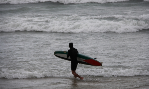Seventy-five percent of Gaza's population is under 30. Why are surfers such a rare sight along the coast? Photo: Gisha