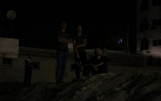 Dark street in Gaza city