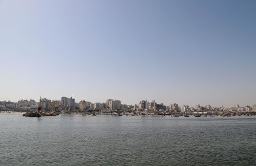 view of Gaza from the sea, 2019. Photo by Asmaa Elkhaldi