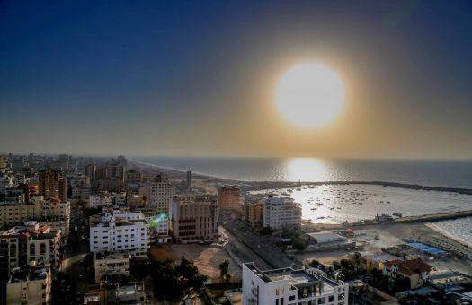 Sunset in Gaza. Photo by Gisha