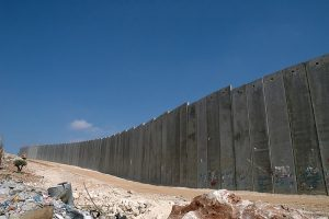 The separation wall. Photo by Justin McIntosh