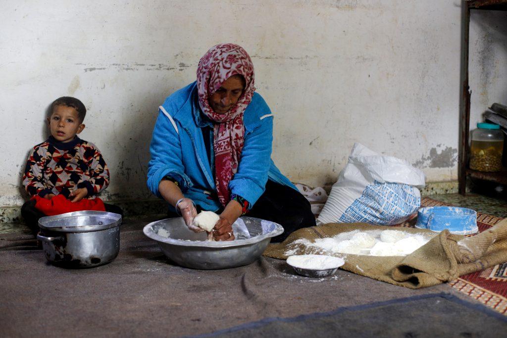 Itidal kneading dough. Photo by Asmaa Elkhaldi