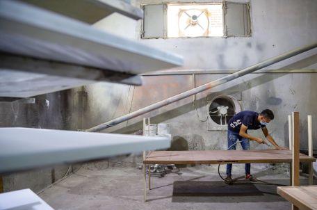 Carpentry shop in Gaza. Photo by Asmaa Elkhaldi